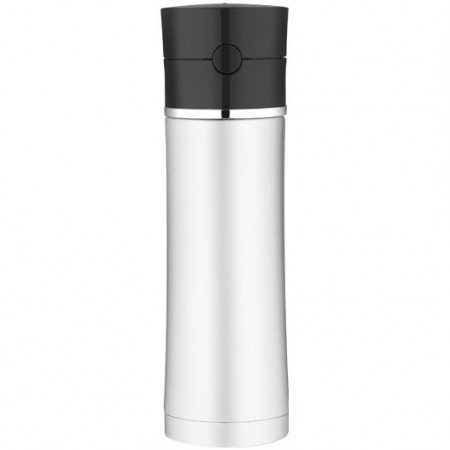 Thermos vacuum insulated hydration bottle black lid 530ml