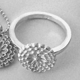 Kylie Gartside recycled silver Honey ring - flower