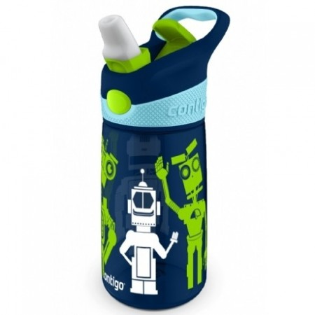 Contigo 415ml kids autospout striker bottle - navy robot