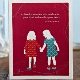 PG greeting card - a friend is someone that...
