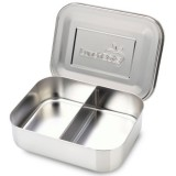 LunchBots stainless steel lunch box - duo silver