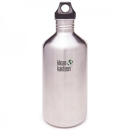 Klean Kanteen classic 64oz 1893ml bottle - brushed stainless