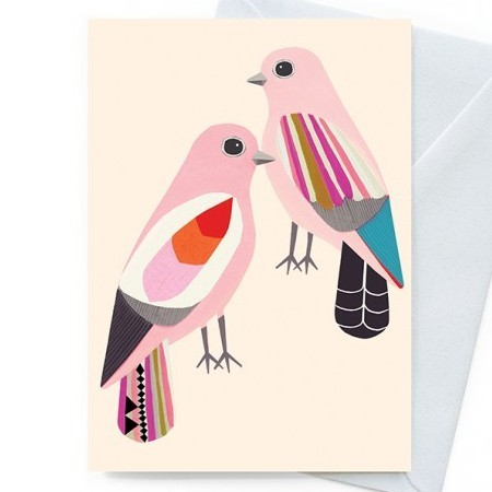 Earth Greetings 'Inaluxe' card - happiness doves