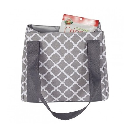 Fit & Fresh insulated lunch bag - venice grey round