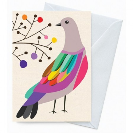 Earth Greetings 'Inaluxe' card - brush bronzewing
