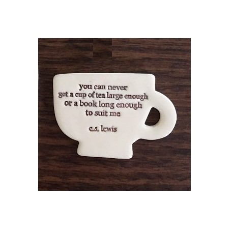 Kylie Johnson ceramic quote magnet - cup of tea