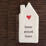 Kylie Johnson ceramic quote magnet - home sweet home