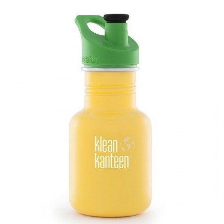 Klean Kanteen classic 12oz 355ml Stainless Steel Water Bottle - school bus