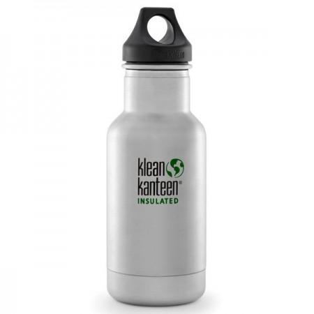 Klean Kanteen classic insulated 12oz 355ml Water Bottle - brushed steel