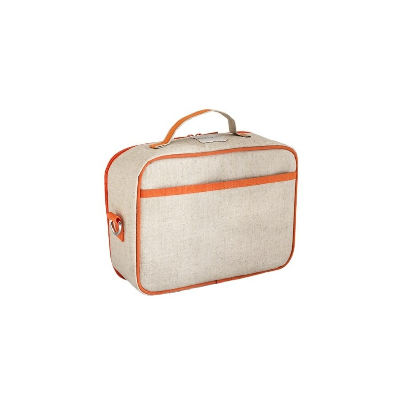 soyoung insulated lunch box orange fox raw linen biome. Black Bedroom Furniture Sets. Home Design Ideas