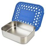 LunchBots stainless steel lunch box - uno blue dots