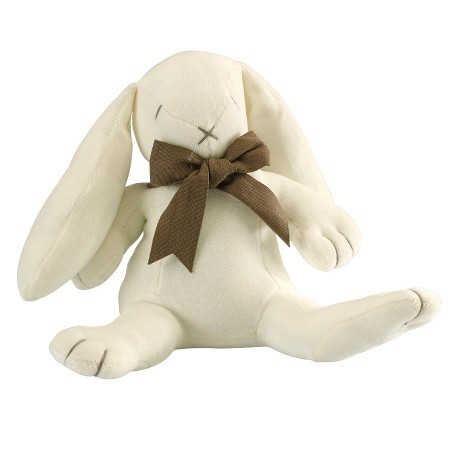 Maud N Lil organic cotton toy - white ears the bunny