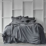 Pure Linen Double Sheet Set - Storm