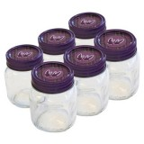 Mad Millie glass preserving jars 350ml - set of 6