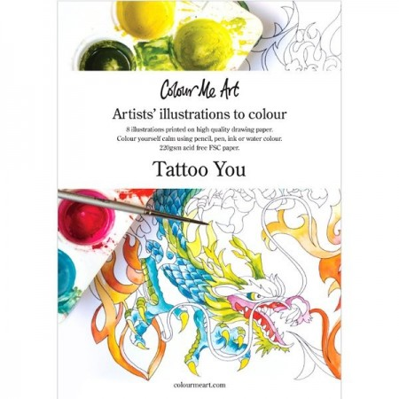Colouring in illustrations (Australian made) - tattoo