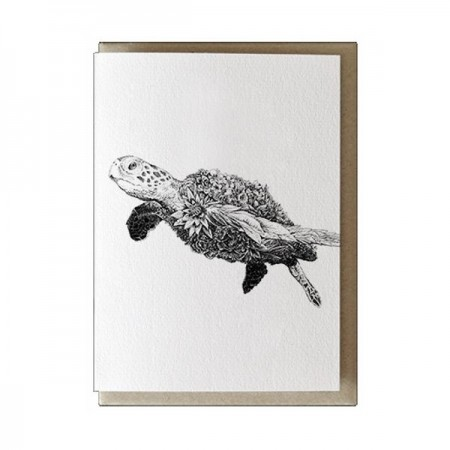 Marini Ferlazzo greeting card - green sea turtle