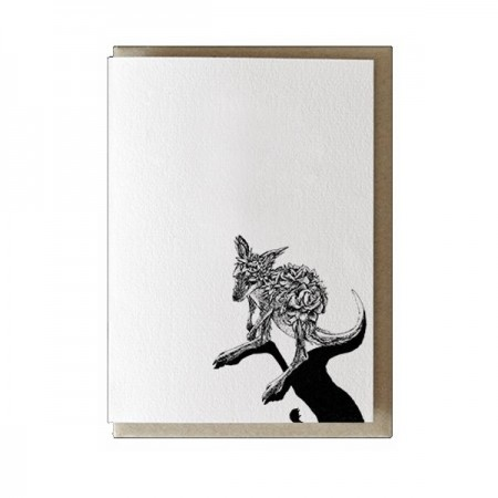 Marini Ferlazzo greeting card - red kangaroo