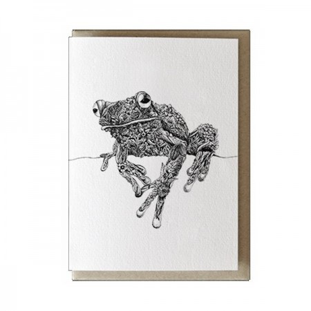 Marini Ferlazzo greeting card - white-lipped tree frog