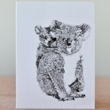 Marini Ferlazzo greeting card - koala & joey