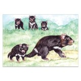 Colour me art greeting card - tasmanian devil