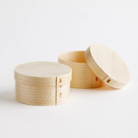 Green bean round box with lid