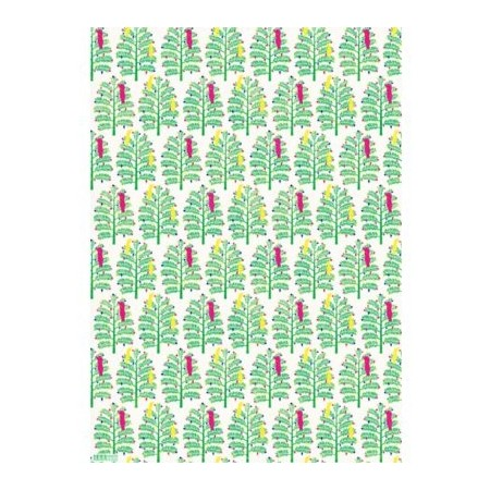 Earth Greetings Christmas gift wrap - wollemi pine