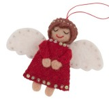 Fairtrade felt decoration - angel with beads