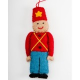 Fairtrade Felt Christmas Decoration - Soldier