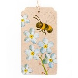 Sow'n'Sow gift tag with string - forget me not