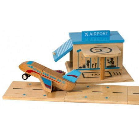 Click Clack wooden puzzle Airport pack