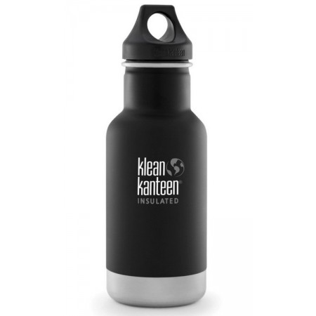 Klean Kanteen 355ml Classic Loop Insulated Water Bottle Shale Black