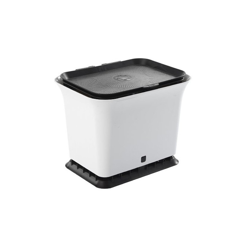 Kitchen Composting: Full Circle Fresh Air Kitchen Compost Collector Black