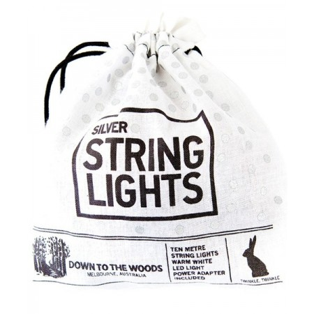 LED silver wire string lights 10m Power plug in