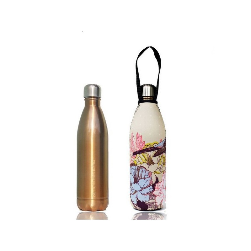 Bbbyo Stainless Steel Water Bottle With Cover 750ml Gold