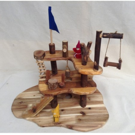 Lichee Natural Wood Childrens Toys Organic Tree - designed for Steiner