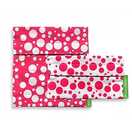 Lunchskins resuable sandwich bag and snack bag set – Pink Confetti