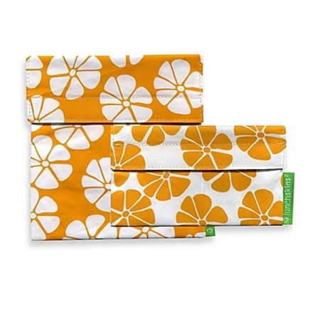 Lunchskins resuable sandwich bag and snack bag set – Yellow Lily