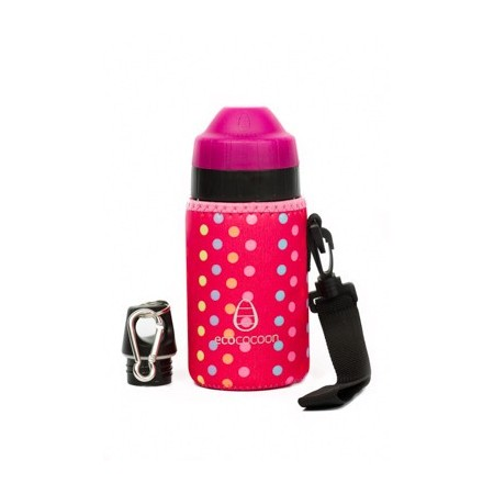 Ecococoon Small Bottle Cuddler - pink spotty