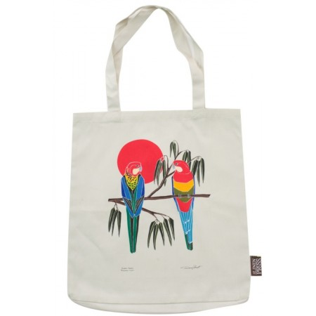 The Linen Press - Eastern Rosella Shopper Bag