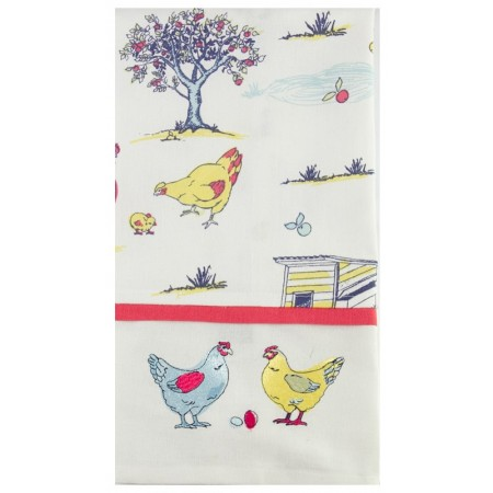 The Linen Press Chicken Tea Towel