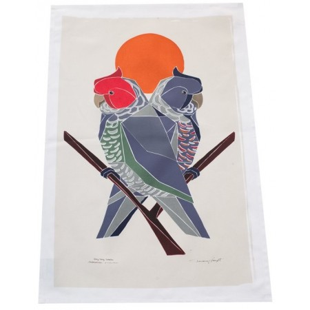 The Linen Press - Gang Gang Cockatoo Tea Towel