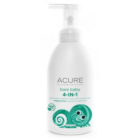 Acure Bare Baby 4-in-1 body wash shampoo bubble bath