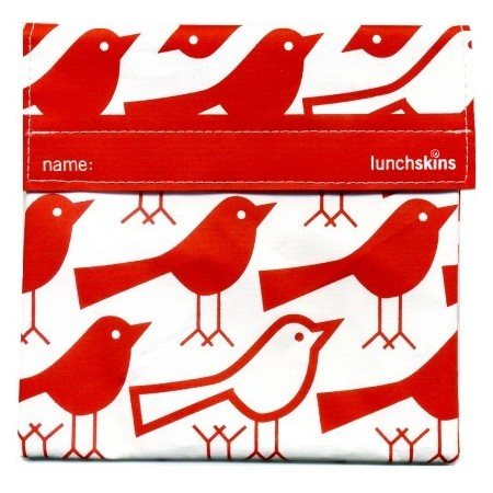 Lunchskins large sandwich bags - sub size (red bird)