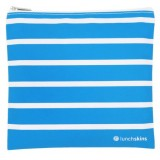 Lunchskins medium zip bag - Aqua Stripe