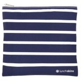 Lunchskins medium reusable zip bag - Navy Stripe