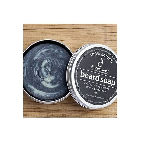 Dindi naturals' beard soap in a tin