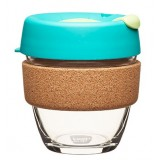 KeepCup small glass cup cork band 8oz (227ml) – thyme