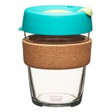 KeepCup medium glass cup cork band 12oz (340ml) – thyme