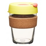 KeepCup medium glass cup cork band 12oz (340ml) – saffron