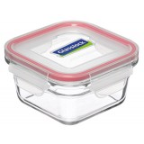 Glasslock oven safe container 900ml square red